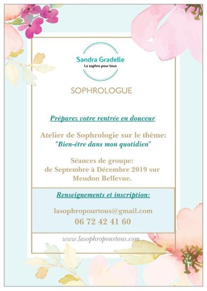 Atelier Sophro «Bien-être» en Septembre 2019